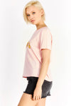 Pastel Pink T-Shirt With Text Print