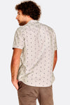 Beige Patterned Short Sleeved Shirt