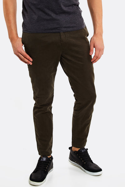 Dark Green Cotton Trousers