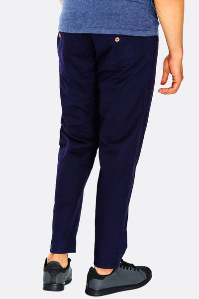 Navy Cotton Trousers