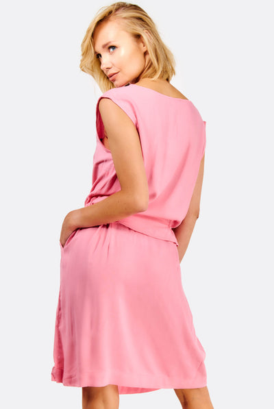 Pink Dress With Side Pockets