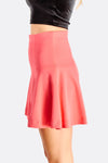 Pink Flared Short Skirt