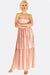 Pastel Pink Pleated Skinny Dress