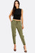 Military Green Trousers With Side Pockets