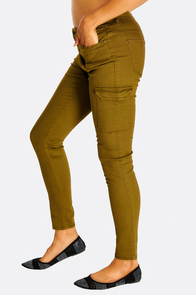 Green Fitted Trousers