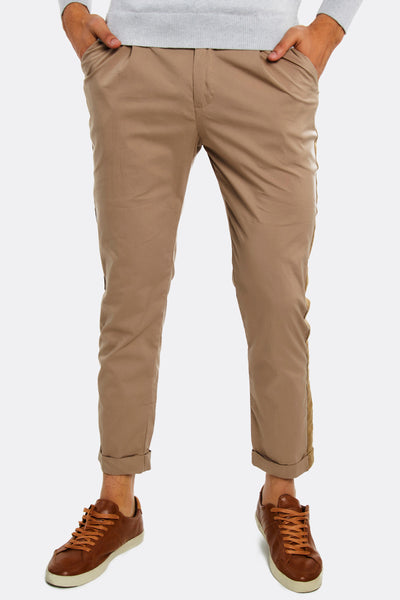 Mens trousers with stipes