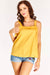 Yellow Tie Strap Top