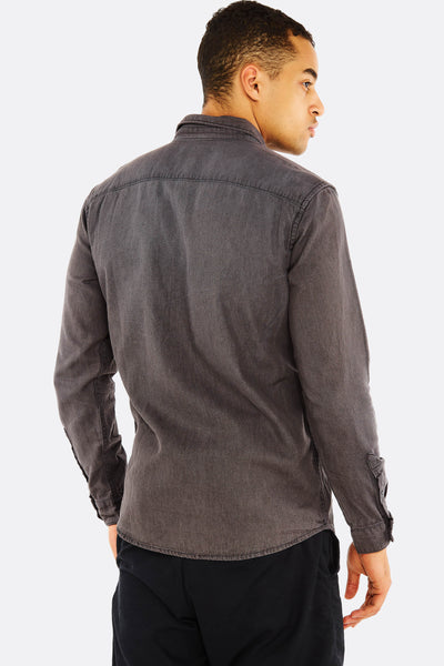 Grey Cotton Shirt