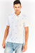 White Cotton Patterned Polo T-Shirt