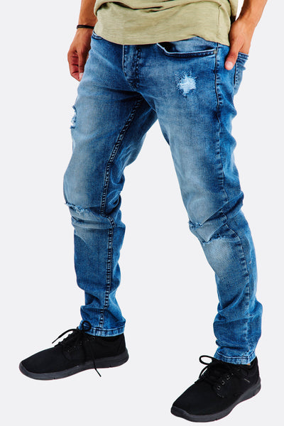 Navy Distressed Jeans