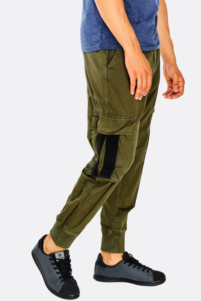 Green Cotton Cargo Trousers