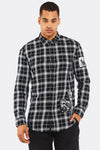 Black Checkered Cotton Shirt