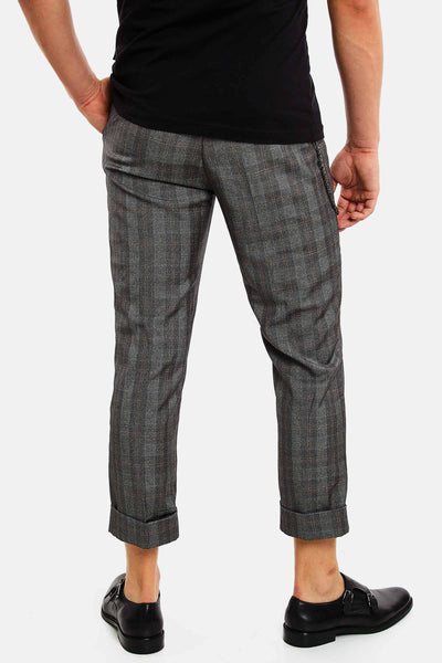 Light Grey Checkered Trousers