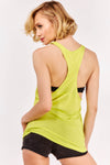 Yellow Racerback Vest Top