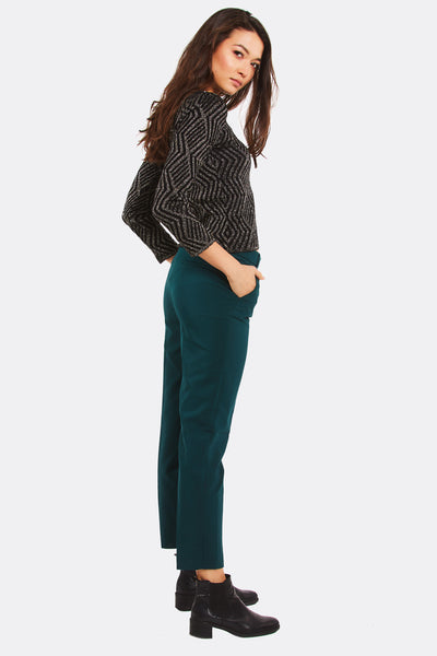 Green Trousers With Side Pockets