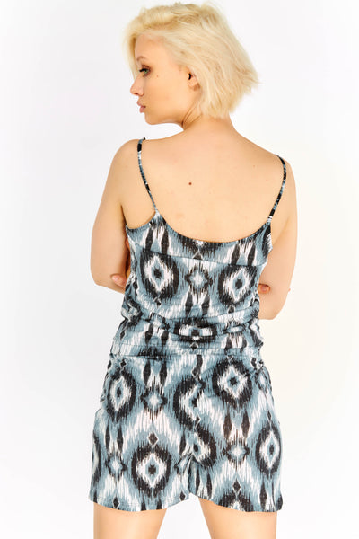 Multicoloured Patterned Playsuit