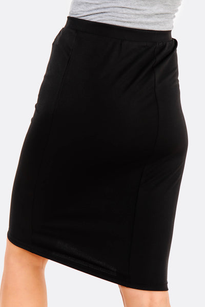 Black Fitted Skirt