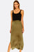 Military Green Maxi Skirt