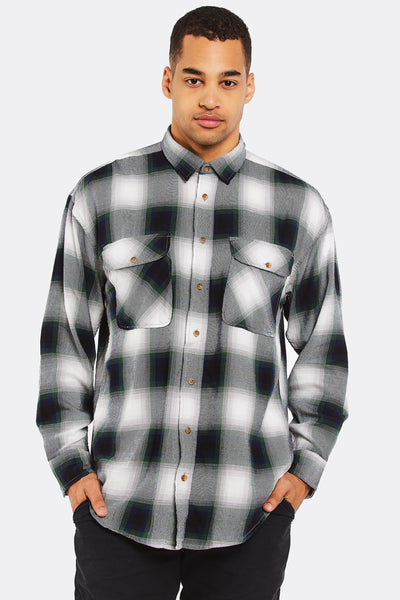 Green Checkered Cotton Shirt