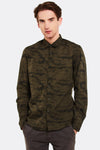 Military Green Patterned Shirt