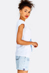 White Cotton T-Shirt With Print