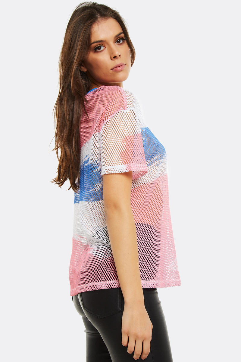Multicolour Mesh T-Shirt