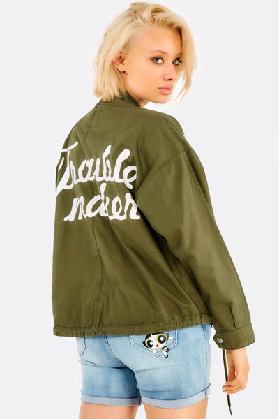 Green Jacket With Eyelets
