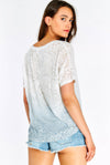 White Patterned T-Shirt