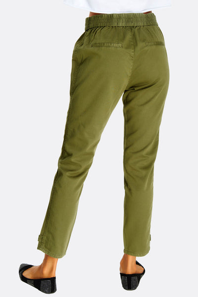 Olive Green Cotton Trousers