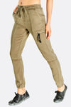 Kaki 3/4 Elasticated Ankle Pants