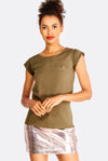 Brown Cotton T-Shirt