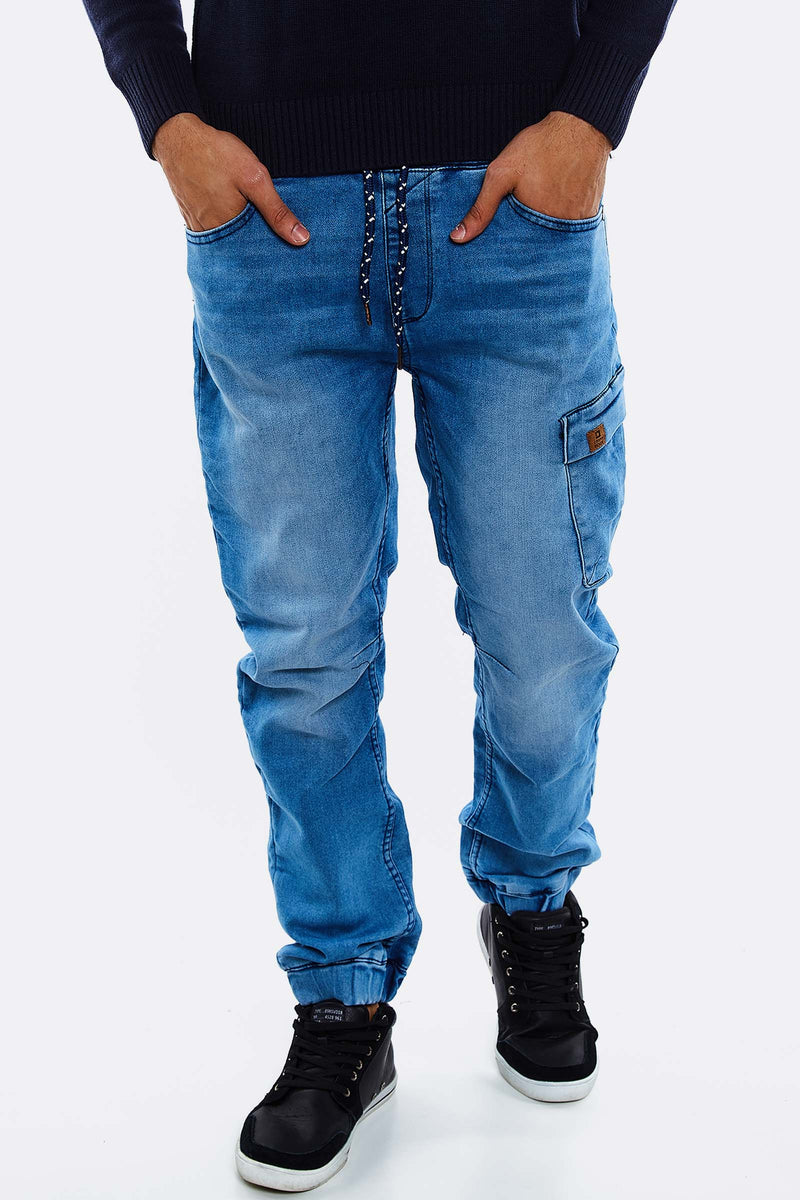Blue Jeans With Faded Aspect