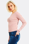 Pink Fine Knit Blouse