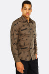 Khaki Patterned Shirt