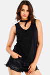 Black Top With V-Neck