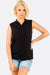 Black Sleeveless Shirt