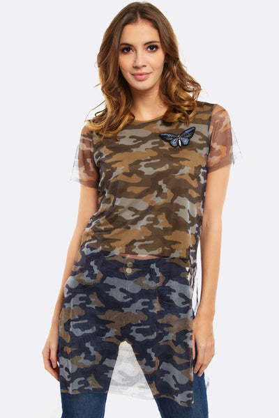 Green Camouflage Blouse