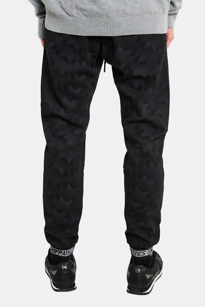 Black Patterned Sports Trousers