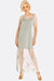 Light Grey Mesh Dress With Embroideries