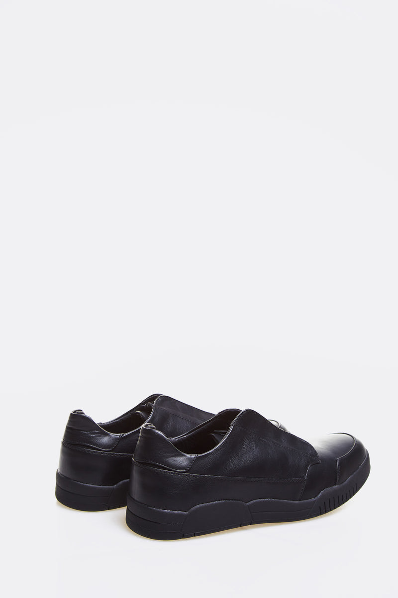 Black Faux Leather Shoes