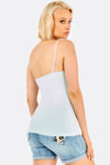 Pale Turquoise Top With Thin Straps