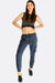 Navy Blue Elasticated Ankle Sports Pants