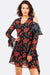 Multicolour Floral Printed Asymmetric Dress