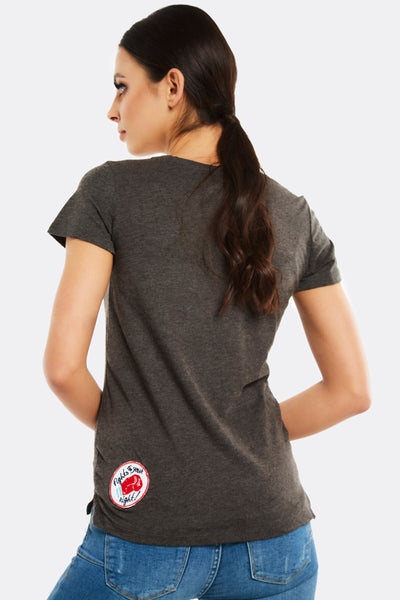 Grey T-Shirt With Applique