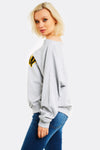 Light Grey Printed Sweatshirt