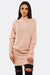 Light Pink Knitted Tunic Dress