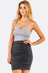 Dark Grey Short Skirt