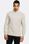 Beige Jumper With High Neck