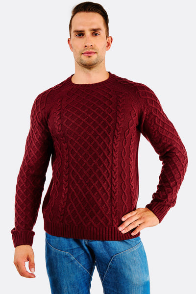 dark red knitted sweater