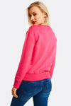 Bright Pink Printed Sweatshirt